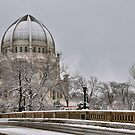Baha'i Temple, Autumn Snow by James Watkins