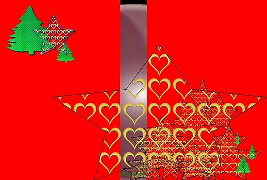 Christmas Greeting Card of wall hanging by Ginger Lovellette