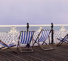 Brighton Beach Chairs by Sue Ratcliffe
