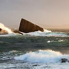 Split Rock - Clachtoll Bay Scotland by toonartist