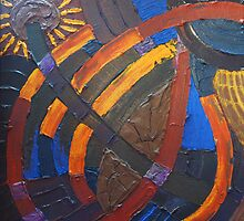 Earth Light Tapestry XIII by Randall Talbot