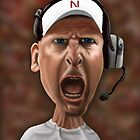 Husker's Football Coach Bo Pelini by Ian Moreland
