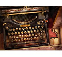 Steampunk - Just an ordinary typewriter  Photographic Print