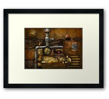 Steampunk - The device Framed Print