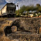 The Train Stop by Sue  Cullumber