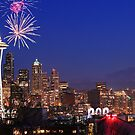 Fireworks in Seattle by Mikhail Lenitsyn