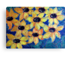 Sunflowers are smiling Canvas Print