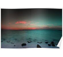 Paradise  at sunrise Poster