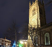 Derby Cathedral in Winter by Mark Fountain