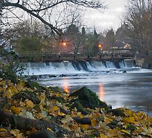 Darley Abbey Weir at Twilight by Mark Fountain