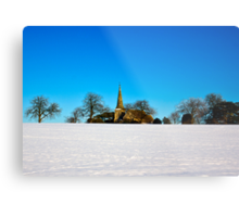 The Church on the Hill Metal Print