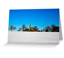 The Church on the Hill Greeting Card