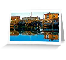 Houseboats, Gate 6, Sausalito, California, USA Greeting Card
