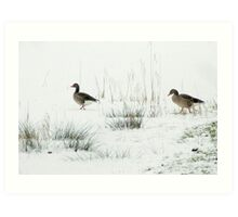 Into the white, wide world Art Print
