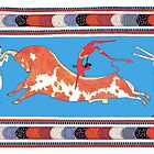Minoan Bull Leaping Toreador Fresco Art by W. Sheppard Baird