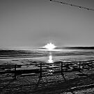 Filey 8am sunrise b&W by lendale
