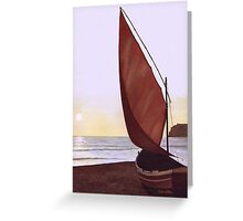 Red Sail in the Sunset Greeting Card