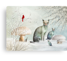 The Winter Cats Canvas Print