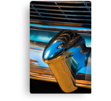 A section from a rear 1954 Chevrolet chrome bumper Canvas Print