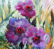 Poppies In The Rain by Barbara Sparhawk