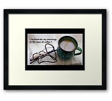 Boeretroos / A cup of coffee Framed Print