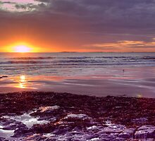 Bamburgh Sunrise by Lynne Morris