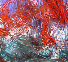 Abstract - Swirl of Colours by Angela Gannicott