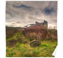 Rusted and Blasted - Blast Furnace Park - Lithgow NSW Poster
