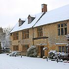 English Period homes covered with snow by Chris L Smith