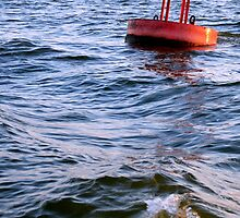Red Buoy 34 Bayport by nadinecreates