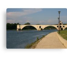 The bridge over the Rhone at Avignon France Canvas Print