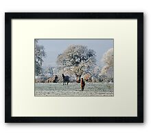 Cheshire Countryside : More Snow to come Framed Print