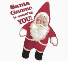 Funny Vintage Christmas Santa Gnome by Jamie Wogan Edwards