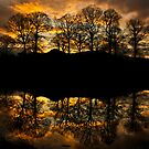 Sunset reflections on the river Brathay by Shaun Whiteman