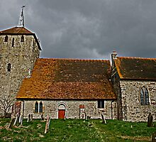 St Mary Magdalene in the Storm by Dave Godden