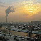Industrial yellow morning by zdepe
