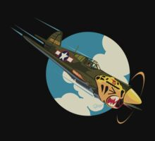 Aleutian Flying Tigers P-40  by Django1936