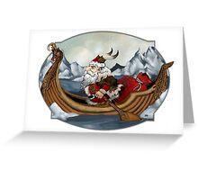 Santa Viking Greeting Card