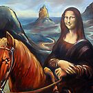 Mona in the Mountains, (glasshouse mountains) by Brian Tisdall