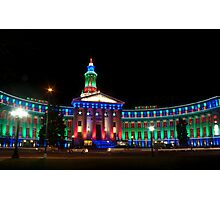 Denver's Courthouse lit up for the holidays Photographic Print