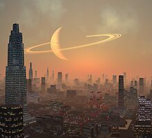 Hot Summer Night in Alien City by SpinningAngel
