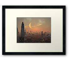 Hot Summer Night in Alien City Framed Print
