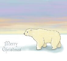 Polar Bear Christmas Card by bryonycrane