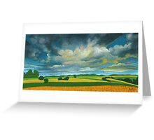 Cornfields - contemporary landscape oil painting Greeting Card
