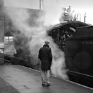 Nostalgia in monochrome at Loughborough, UK. by David A. L. Davies