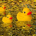 """Afternoon Delight"" - Rubber Duckies Floating into the Sunset by John Hartung"