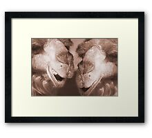 """""""Watering Hole Gossip"""" - Camels gossiping? Framed Print"""