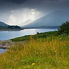 Scottish landscape with grey clouds by Gabor Pozsgai