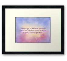 Let's Celebrate the Light of the World - John 8:12 Framed Print