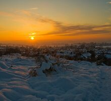 Sunsetting over the Village by Elaine123